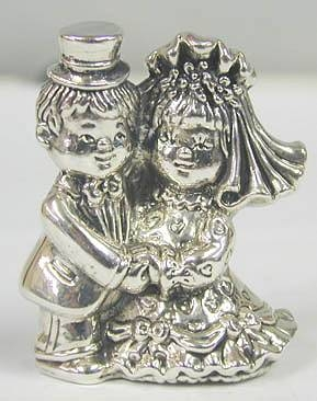 Sterling Silver Bride & Groom
