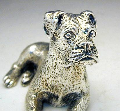 Sterling Silver Model Of A Boxer