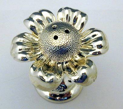 Sterling Silver Flower Spice Box Miniature
