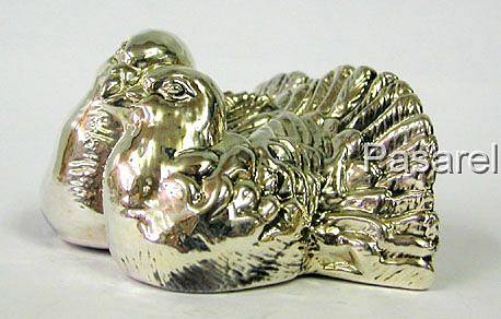 Silver Love Pigeons Miniature