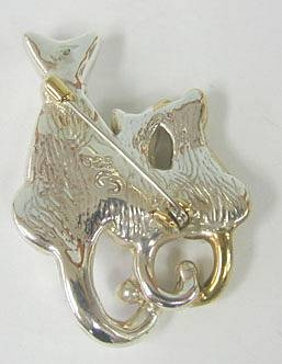 Sterling Silver Cats with its Kitten