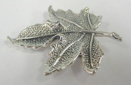 Sterling Silver Leaf Brooch