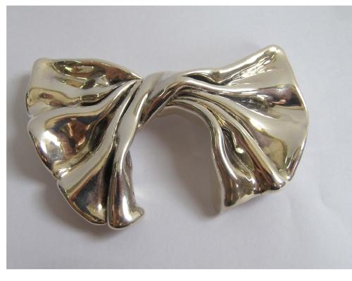 Silver Velvet Brooch