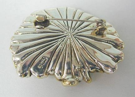 Sterling Silver Lines Brooch