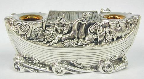 Sterling Silver Noah´s Ark Candlesticks