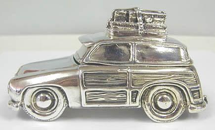 Artisan Sterling Silver Car Clip Holder