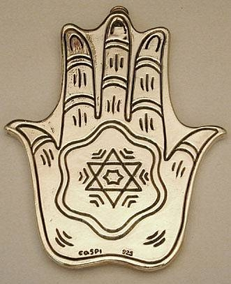 Sterling Silver Jerusalem Blessing+Hamsah