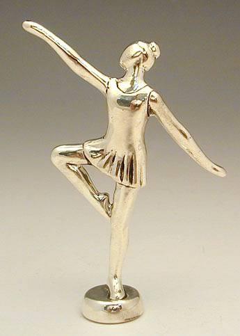 רקדנית מיניאטורה מכסף טהור