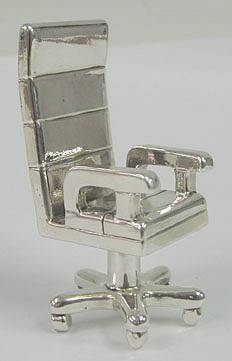 Sterling Silver Chair Card Holder
