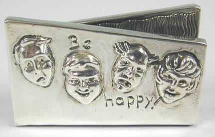 Sterling Silver Smiling Card Holder