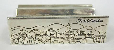 Sterling Silver Jerusalem business Card Holder