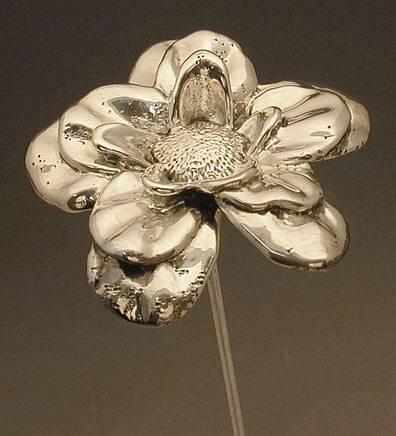 פרח סיגלית מכסף טהור