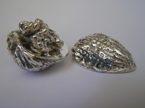 Sterling Silver Open Walnut