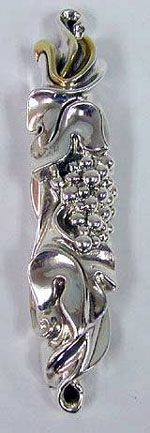 Sterling Silver Grapes Mezuzah