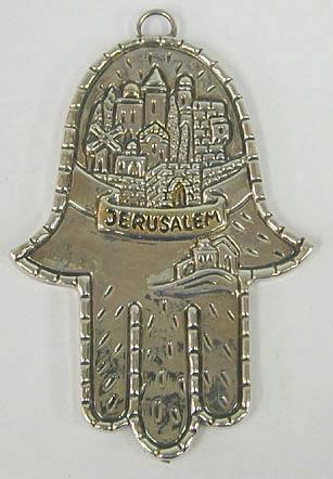 Sterling Silver Jerusalem Hamsah