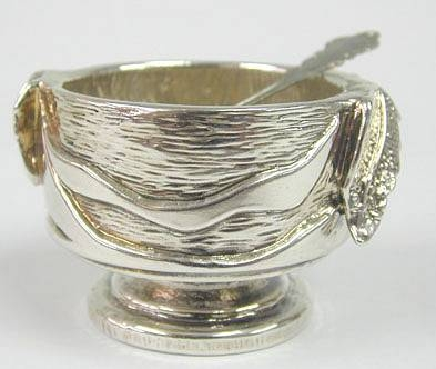 Sterling Silver Small Leaves Honey Dish