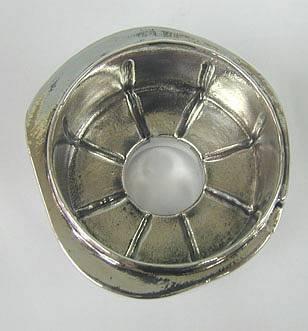 Sterling Silver Big Apple Honey Dish