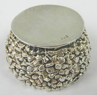 Sterling Silver Sun Flower Honey Dish