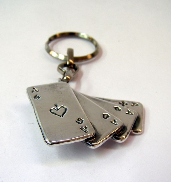 מחזיק מפתחות קלף מכסף