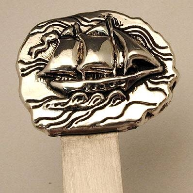 Artisan Sterling Silver Sailboat Bookmark