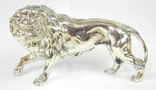 Sterling Silver Model Of A Roaring Lion