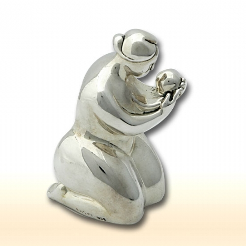 Sterling Silver Mother Sitting With Her Child