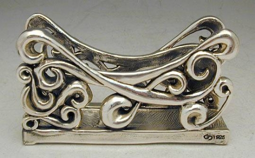 Sterling Silver Fence Napkin Holder