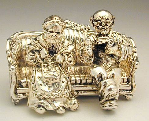 Sterling Silver Old Man Couch