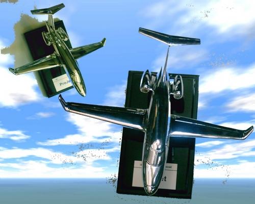 Silver Passenger Jet
