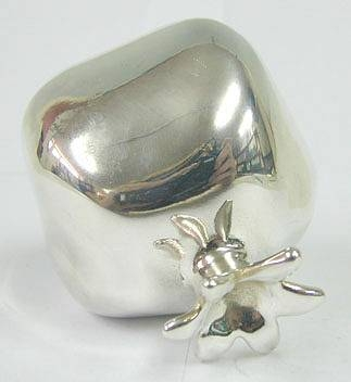 Sterling Silver Model of a Pomegranate
