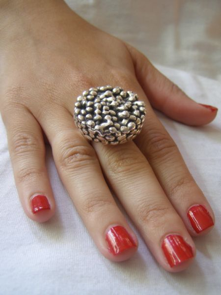 טבעת מכסף טהור