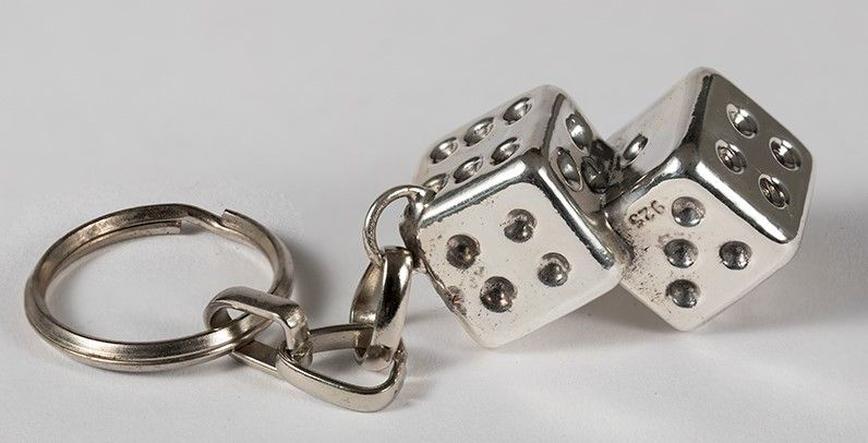 Two Cubes Key Ring