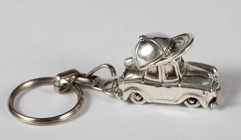Sterling Silver Car Key Chain