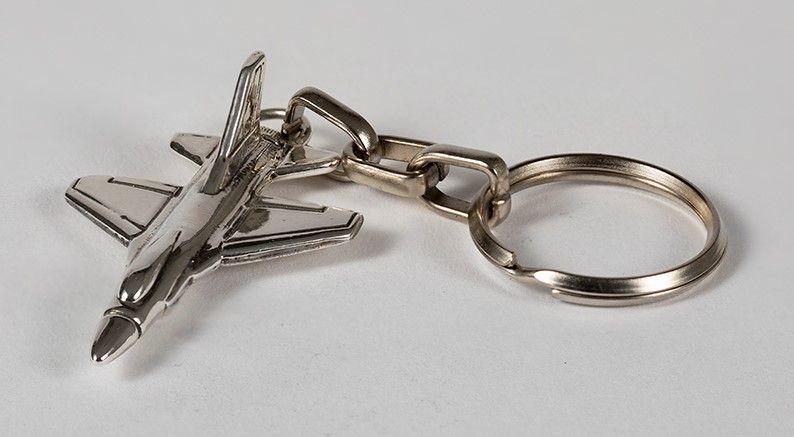 Silver F-16 Key Chain