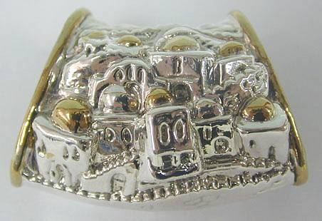 Sterling Silver Jerusalem Scarf Brooch