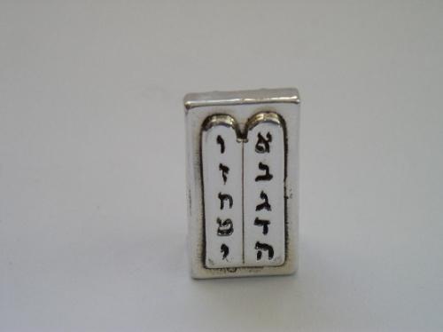 לוחות הברית קטנות מיניאטורה מכסף טהור
