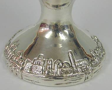 Sterling Silver Jerusalem Smooth Kiddush Cup