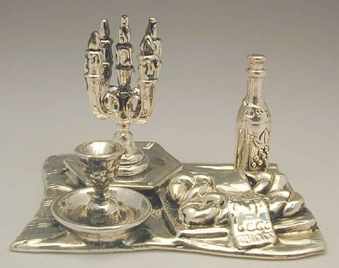 Sterling Silver Shabbath Table Flat