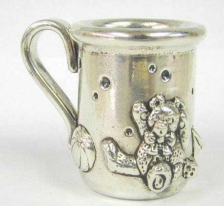 Sterling Silver Teddys Cup