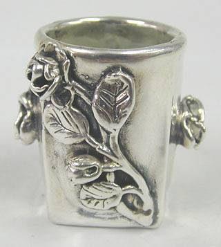 Sterling Silver Flower Matchwood