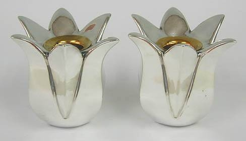 Sterling Silver Tulip Candlesticks